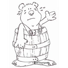 Barrel Bear Digital Stamp