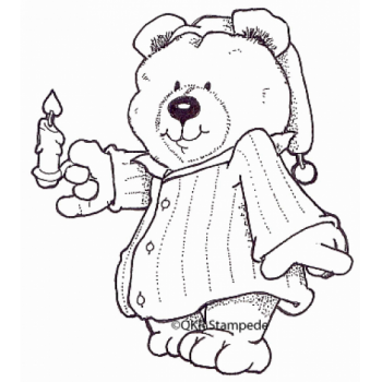Bedtime Bear Digital Stamp