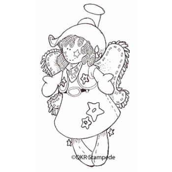 Cowgirl Angel Digital Stamp