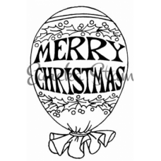 Christmas Balloon Digital Stamp