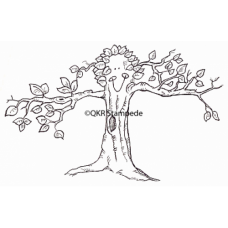 Smiling Tree Digital Stamp