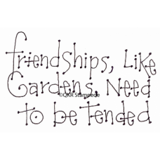 Friendships and Gardens Digital Stamp