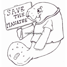 Save the Manatee Digital Stamp