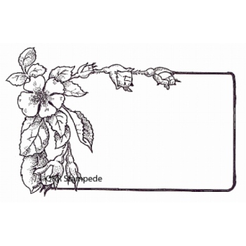 Apple Blossom Label Digital Stamp