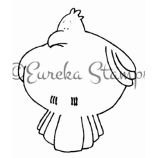 Fat Bird Digital Stamp