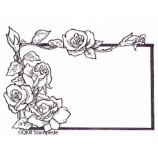 Rose Label Digital Stamp