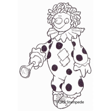 Clown Digital Stamp