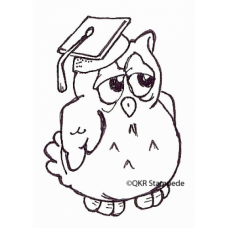 Graduating Owl Digital Stamp