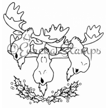 Singing Moose Digital Stamp