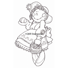 Easter Girl Digital Stamp