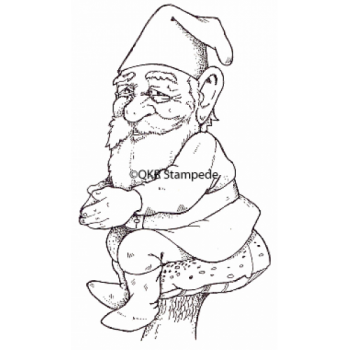 Sitting Knome Digital Stamp