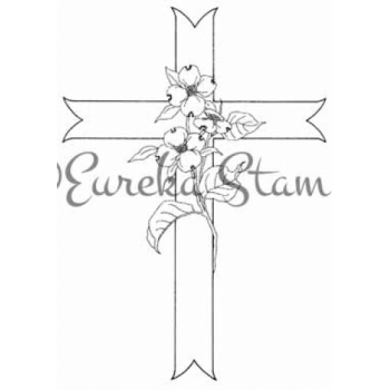 Dogwood Cross Digital Stamp