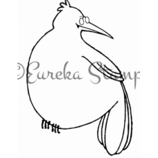 Bird with Glasses Digital Stamp