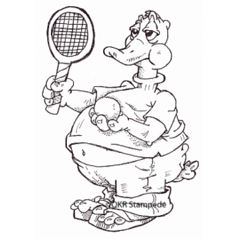 Tennis Duck Digital Stamp