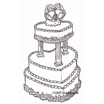 Wedding Cake Digital Stamp