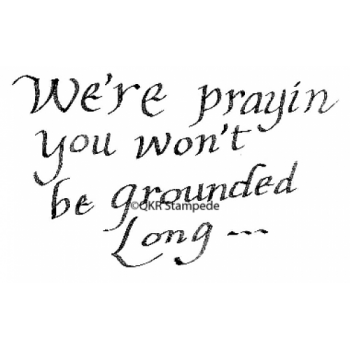 Won't Be Grounded Digital Stamp