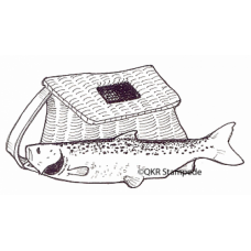 Fish and Basket Digital Stamp
