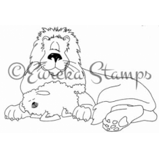 Lion and Lamb Digital Stamp