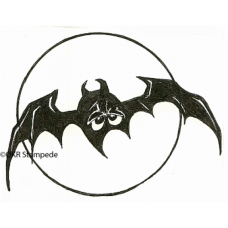 Bat and Moon Digital Stamp