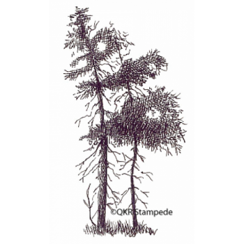 Trees Digital Stamp