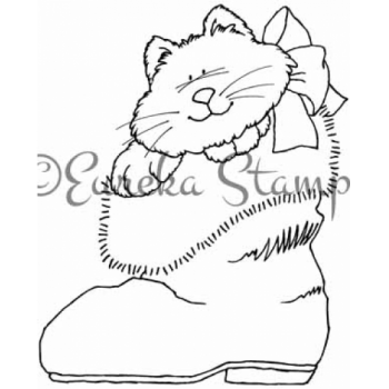 Kitty in Boot Digital Stamp