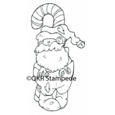 Lg. Santa and Candy Cane Digital Stamp