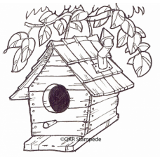 Birdhouse Digital Stamp