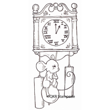 Mouse and Clock Digital Stamp