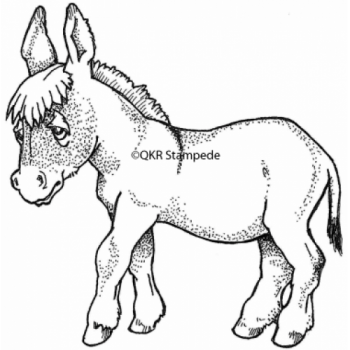 Baby Donkey Digital Stamp
