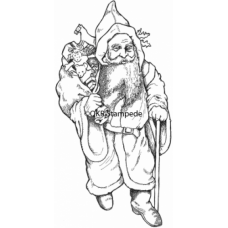 Old Time Santa Digital Stamp