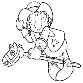 Little Cowgirl Digital Stamp