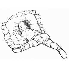 Baby Sleeping Digital Stamp