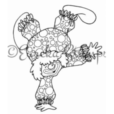 Clown on One Hand Digital Stamp