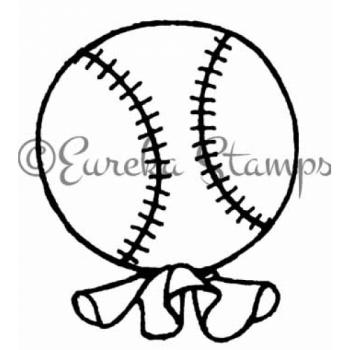 Baseball Balloon Digital Stamp