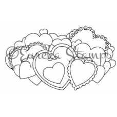 Bunch of Hearts Digital Stamp