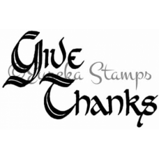 Give Thanks Digital Stamp