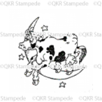Cow Jumping over the Moon Digital Stamp