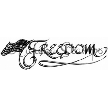 Freedom with Flag Digital Stamp