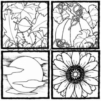 Fall Set of 4 Digital Stamp