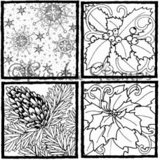 Winter Set of 4 Digital Stamp