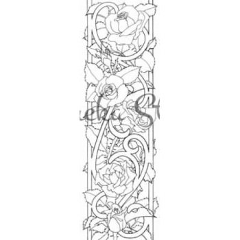 Rose Border Digital Stamp