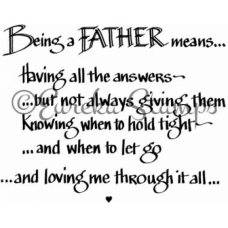 Being a Father Digital Stamp