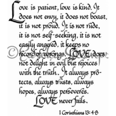 1 Corinthians 13 4-8 Digital Stamp