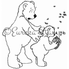 Bears and Bees Digital Stamp