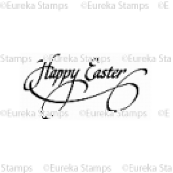 Happy Easter Script Digital Stamp