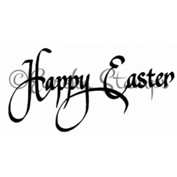 Script Happy Easter Digital Stamp