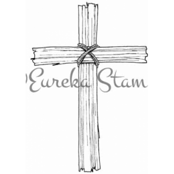 Wooden Cross Digital Stamp