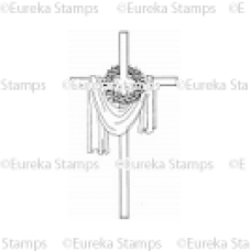 Draped Cross with Thorns Digital Stamp