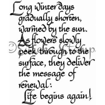 Long Winter Days Digital Stamp
