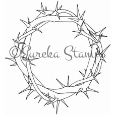 Wreath of Thorns Digital Stamp